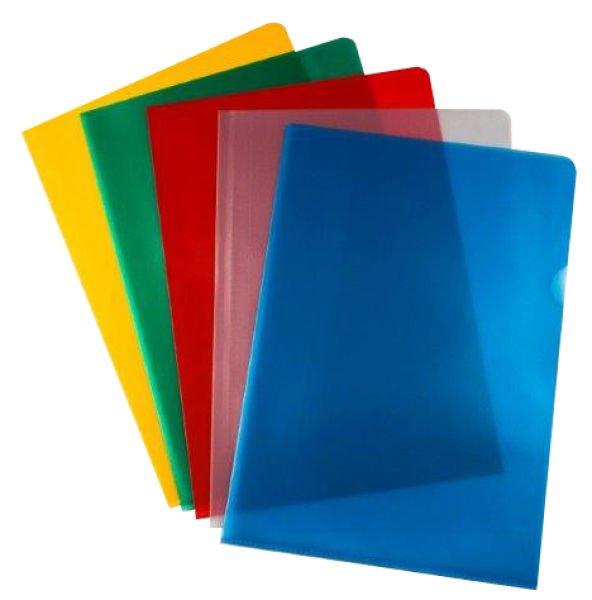 Value Cut Flush Folder A4 Assorted Clours 120 Micron PK50