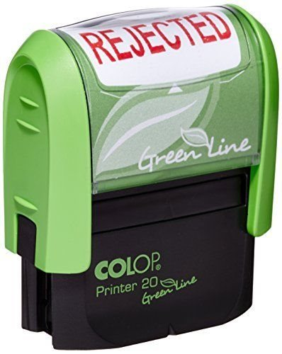 Stamps Colop Word Stamp Green Line Rejected