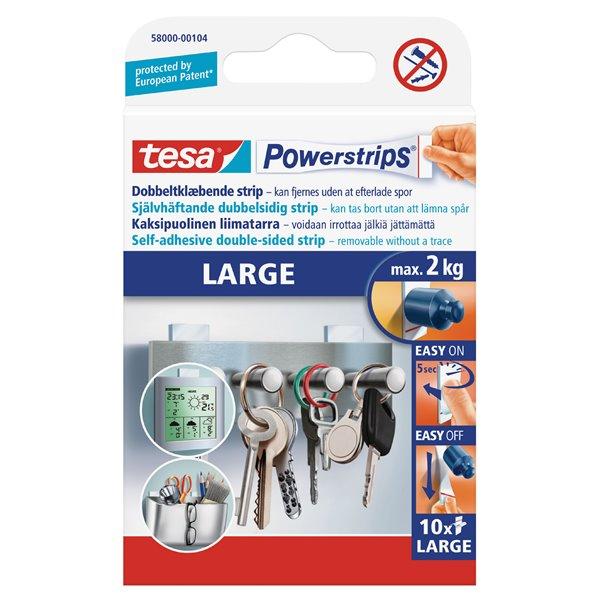 Hanging Hooks & Strips tesa Powerstrips Large Strips 58000 PK10