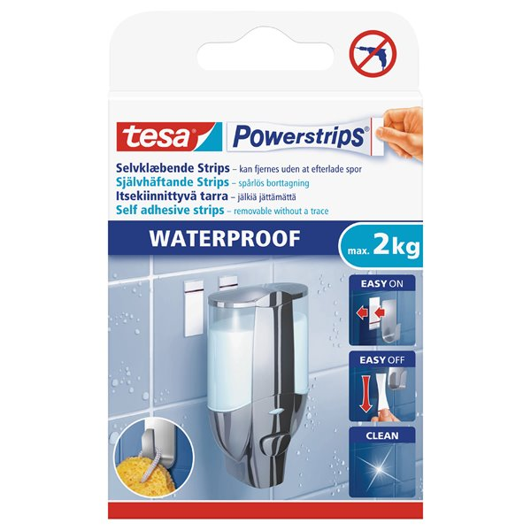 tesa Waterproof Powerstrips Large 59700 PK6