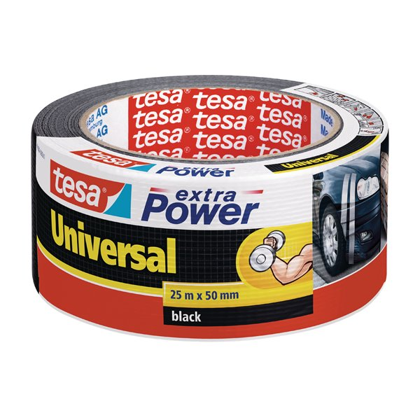 Specialised Tape tesa Extra Power Duct Tape 50mmx25m Black 56388 PK6
