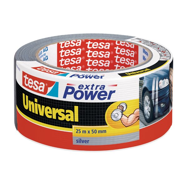 Specialised Tape tesa Extra Power Duct Tape 50mmx25m Silver 56388 PK6