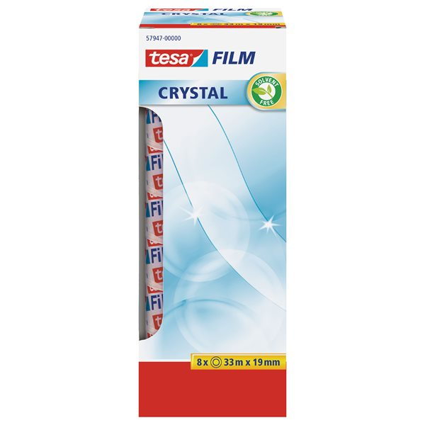 Clear Tape tesafilm Crystal tape 19mm x 33m 57947 OfficeBox PK8
