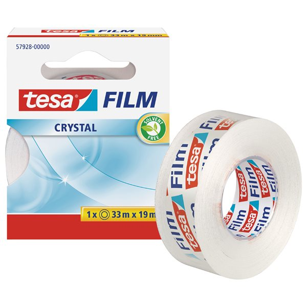 Clear Tape tesafilm Crystal Tape 19mm x 33M 57928