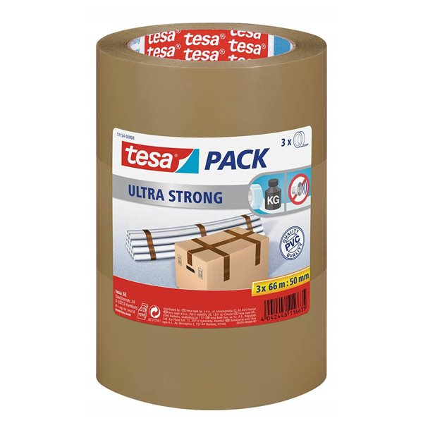 Packing Tape tesa Ultra Strong Tape Brn 50mmx66M PK6