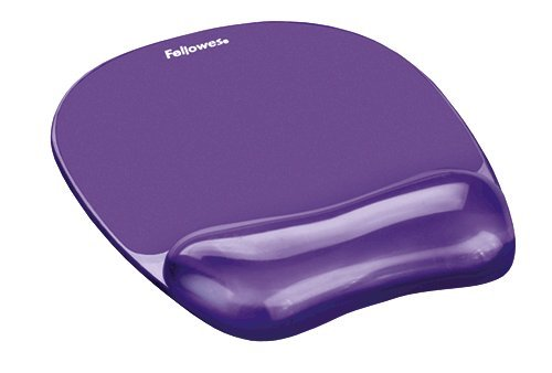 Mouse Mats Fellowes Crystal Mouse Pad and Wrist Rest Purple 91441