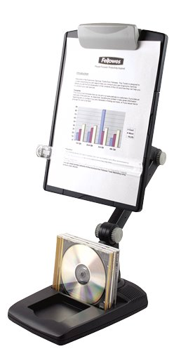 Fellowes Weighted Base Multi-Purpose Copyholder Graphite