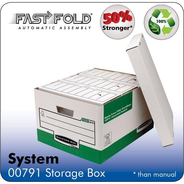 Storage Boxes Fellowes System Storage Box Green PK10