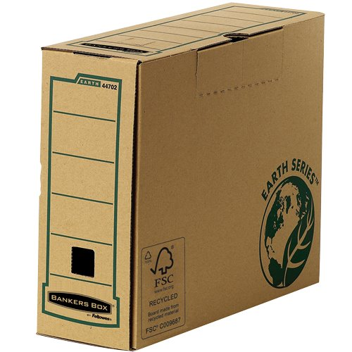 Storage Bags Fellowes Earth 100mm A4 Transfer File 4470201 PK20
