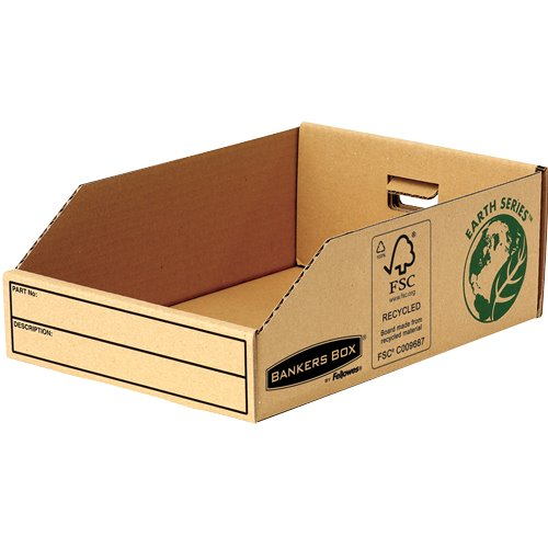 Storage Boxes Fellowes Earth Parts Bin 200mm 07355 PK50