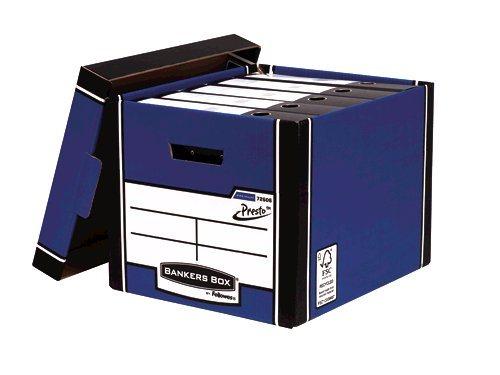 Storage Boxes Fellowes Premium Presto Tall Box Blue PK10