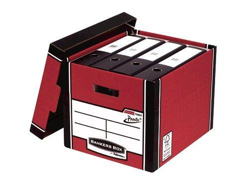 Storage Boxes Fellowes Premium Presto Tall Box Red PK10
