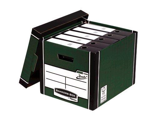 Storage Boxes Fellowes Premium Presto Tall Box Green PK10