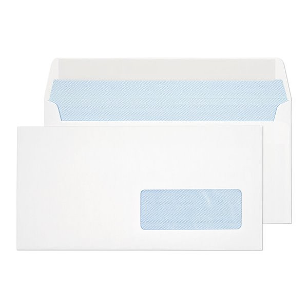 DL Everyday White Window P&S Wallet DL 110x220 100gsm PK500