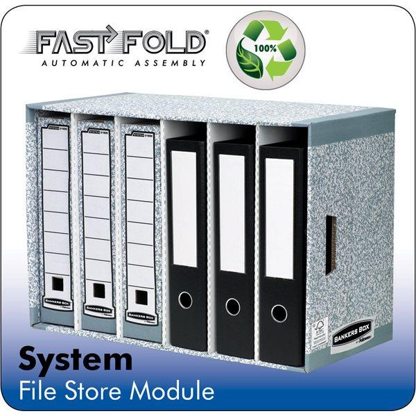 Storage Boxes Fellowes System Filestore Module Grey PK5