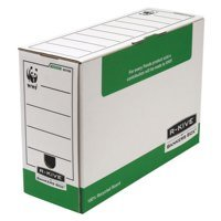 Storage Boxes Fellowes System 120mm Folio Trans File Green PK10