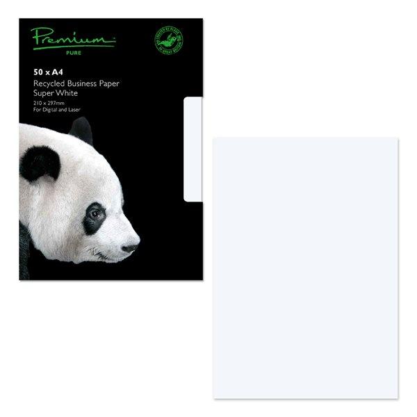 A4 Premium Pure Paper Super White Wove A4 120gsm PK50