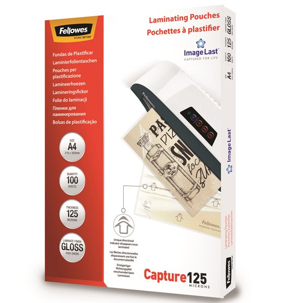 Fellowes Laminating Pouch A4 2x125 micron 5307407 (PK100)