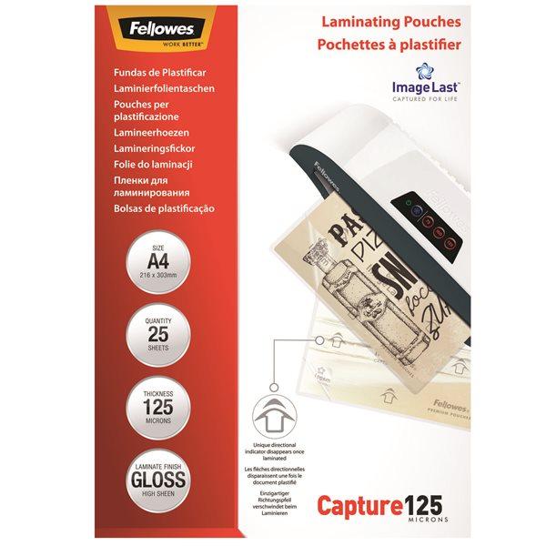 Laminating Film & Pockets Fellowes Laminating Pouch A4 2x125 micron 5396301 (PK25)