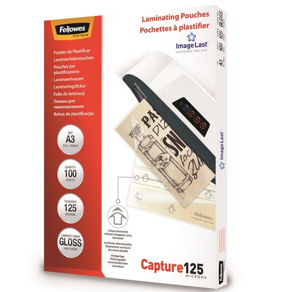 Laminating Film & Pockets Fellowes Laminating Pouch A3 2x125 micron 5307506 (PK100)