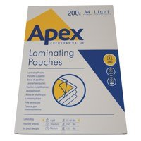 Value Fellowes Laminating Pouch A4 2x75mu 6005301 (PK200)