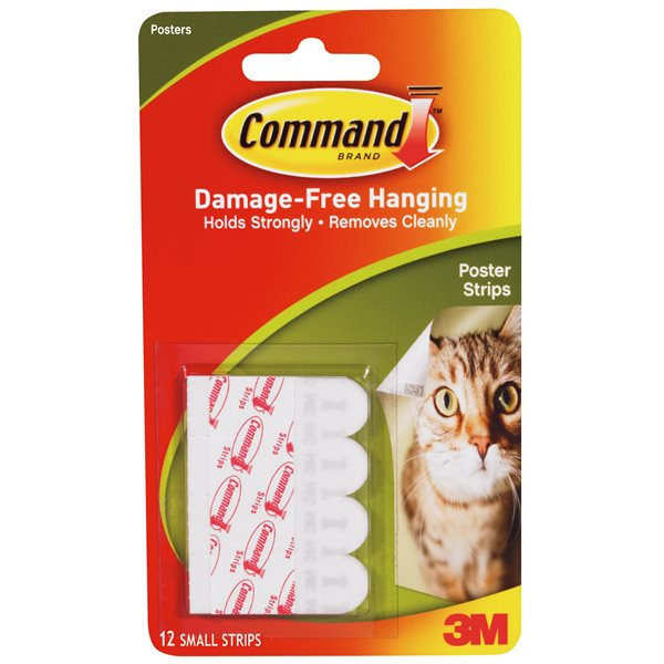 3M Command Adhesive Poster Strips 17024 PK12