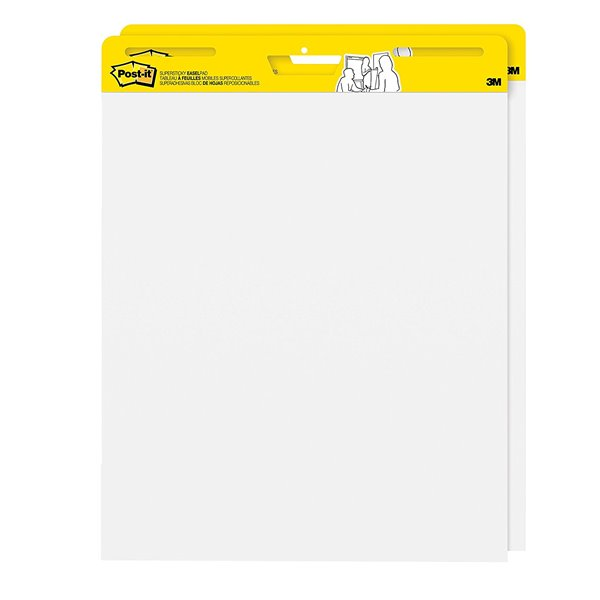 Post-it Super Sticky Meeting Chart Easel Pad Val Pack WH