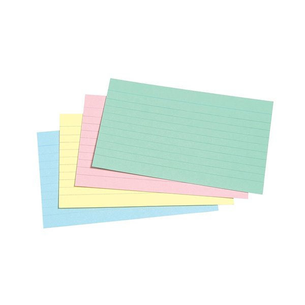 Concord Record Cards 127x76mm Ruled Assorted PK100