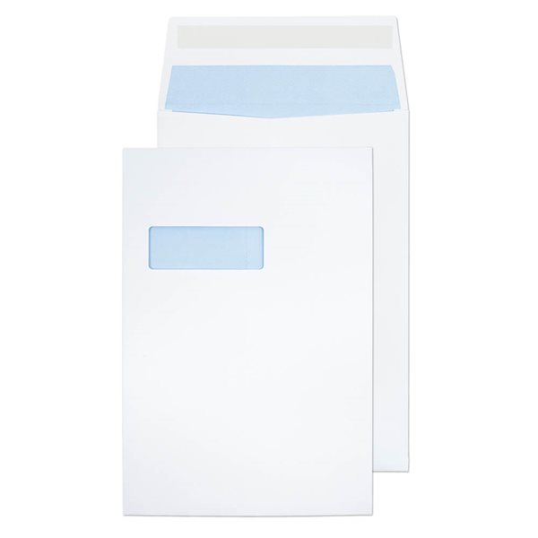 Gusset Envelopes Value Gusset Pocket P/S Win C4 324x229x25mm White PK125