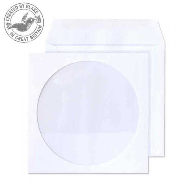 Media Value Blake Envelopes CD/DVD Wallet 125x125mm White PK50