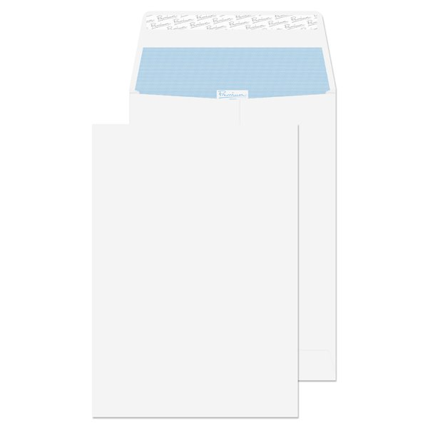 Gusset Envelopes Premium Business Gusset P/S Plain C4 324x229x25 Wht PK100