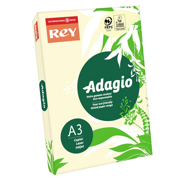 Rey Adagio A3 Paper 80gsm Ivory RM500