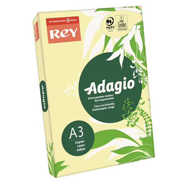 Rey Adagio A3 Paper 80gsm Canary RM500