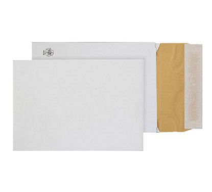 Padded Bags & Envelopes Purely Packaging Eco Peel and Seal Gusset White 140gsm PK100
