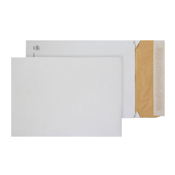 Padded Bags & Envelopes Purely Packaging Eco Peel and Seal Gusset WH 140gsm E4 PK100