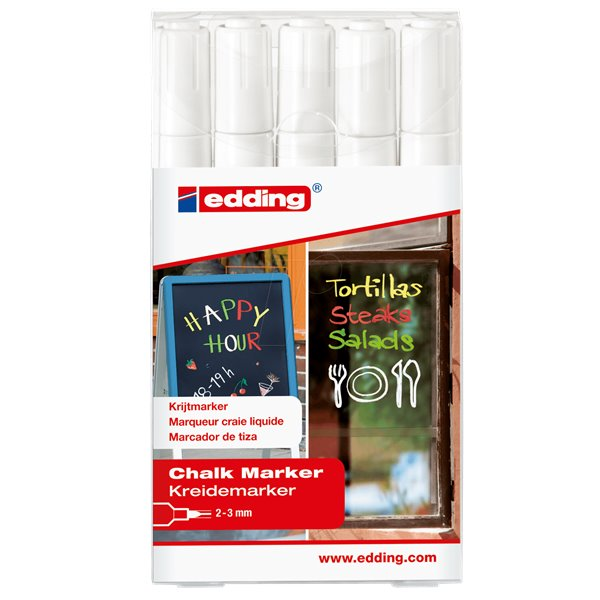 Edding Chalk Marker 4095 Medium Nib PK5