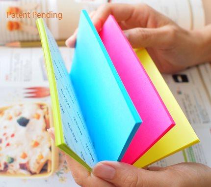 Stickn Magic Pad 76x127mm 4 Neon Colours 100 sh/pad PK12