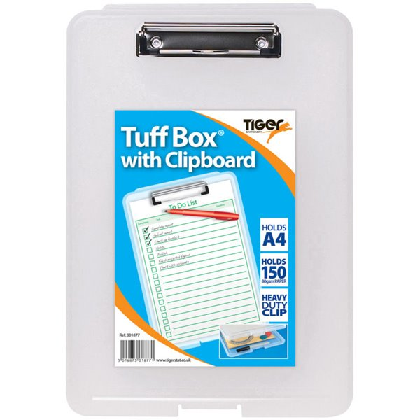 Tiger Tuff Box with Clipboard