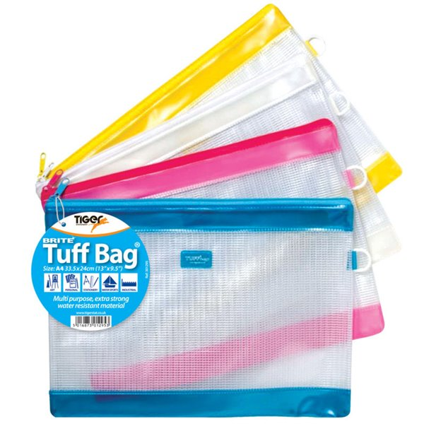 Tiger Tuff Bag A4 Brite Colours
