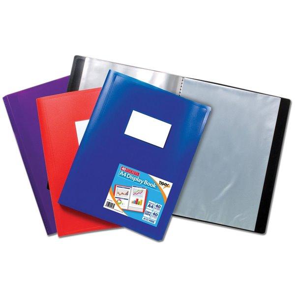 Tiger A4 Flexi Disp Book Assorted 40 Pocket