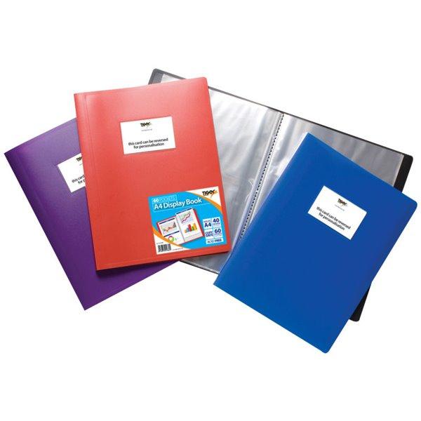 Tiger A4 Flexi Disp Book Assorted 60 Pocket