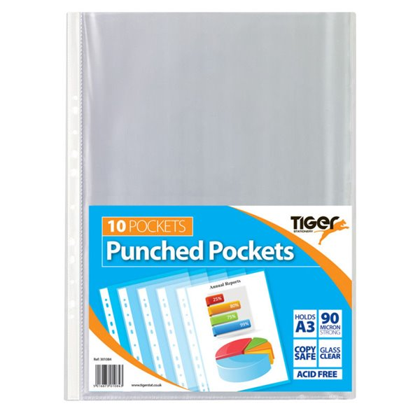 Tiger A3 Punched Pockets Portrait PK10