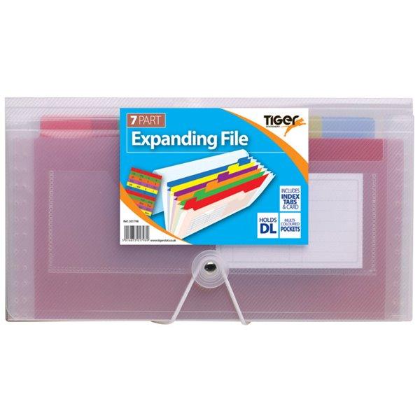 Expanding Files Tiger DL 7 Part Rainbow Expanding File