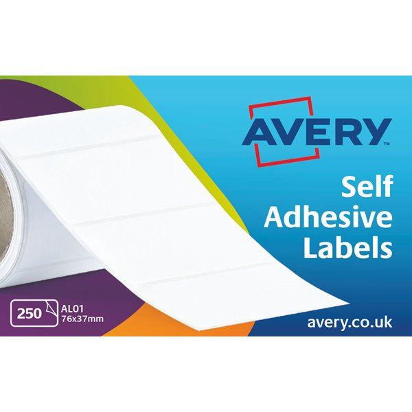 Continuous Labels Avery Typewriter Address Label Roll 76x37mm AL01 (250 Label)