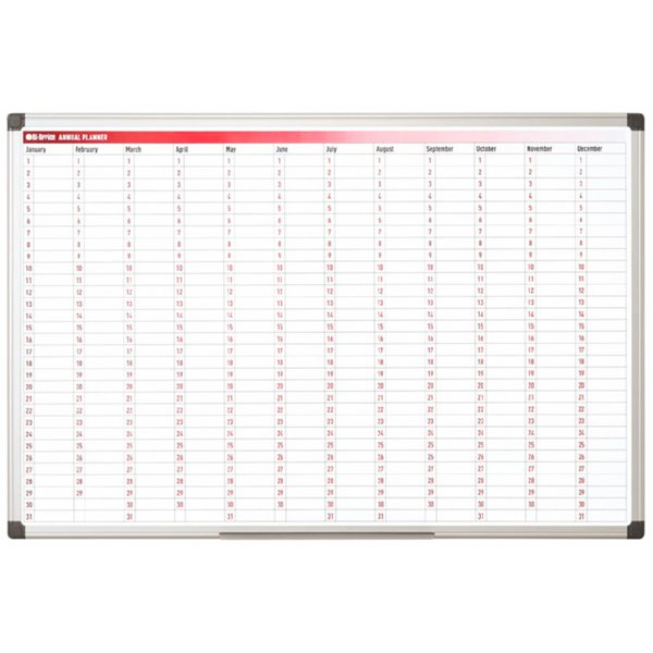 Planners Bi-Office Magnetic 365-Day Annual Planner 90x60cm