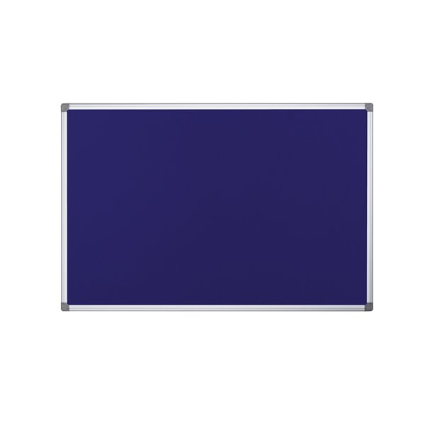 Foamboard Bi-Office Maya Fire Retardant Noticeboard Blue 90x60CM