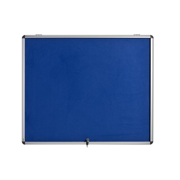 Foamboard Bi-Office Blue Felt Lockable Ntcbrd 6xA4 700x653mm