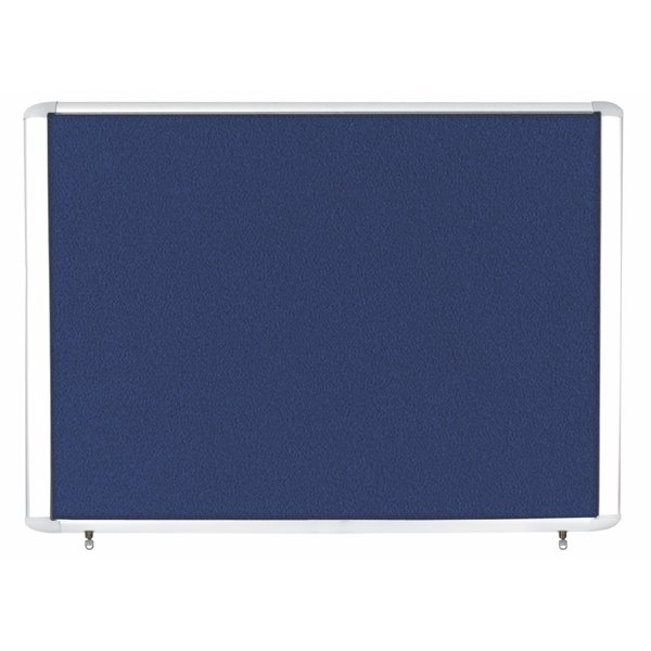 Foamboard Bi-Office Weather Proof Display Case Blue Felt 8xA4