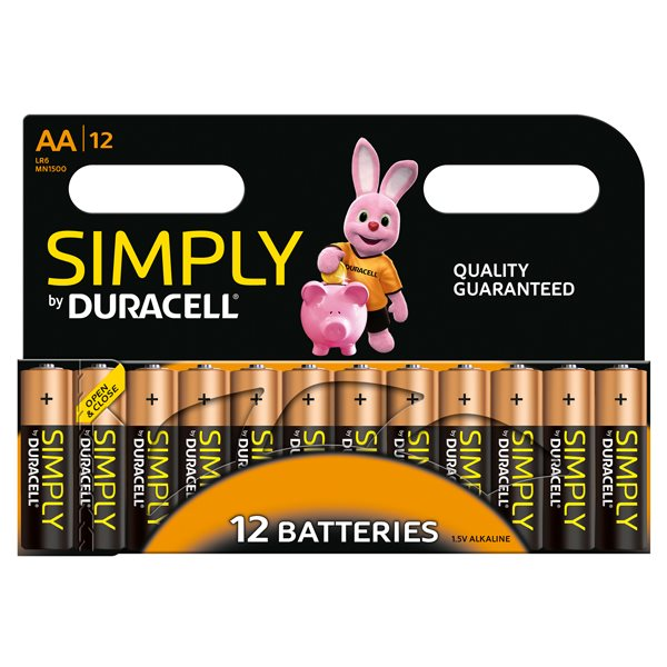 Duracell AA SIMPLY Batteries PK12