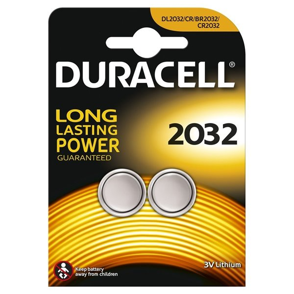 Button Cell Duracell Lithium Coin 3V 2032 2PK